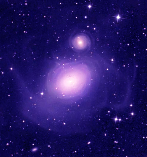 After Galaxies collide purple