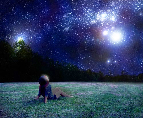 Look to the stars with girl